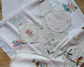 collection of embroideries and applique for crafting
