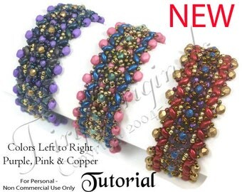 KR036 TUTORIAL - This Way or That Way Bracelet - Color Kit - Instructions Included, Beadweaving Pattern Instructions