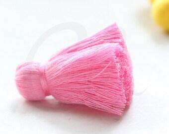 One Piece of Hand Made Cotton Thread Tassels - 37mm - Pink (G1)
