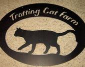 Custom Order Trotting Cat Farm for Suzwinter