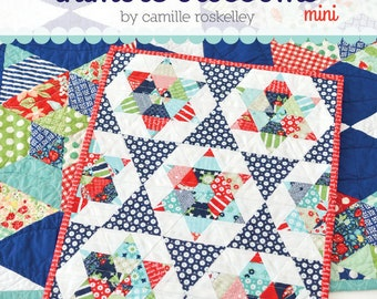 PATTERN mini STARLIGHT quilt wall hanging Charm Pack and Fat Quarter Friendly   We combine shipping