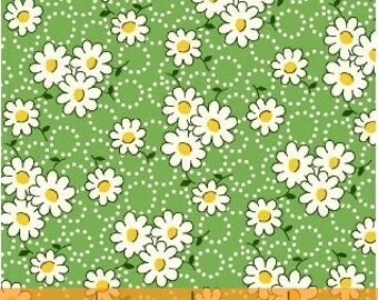 FABRIC FEEDSACK SPRING Daisy Floral reproduction by Windham