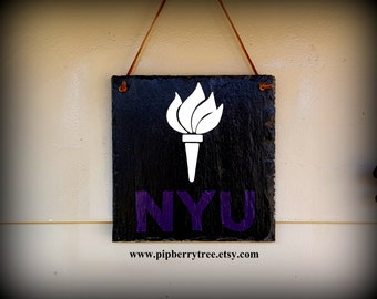 New York University/ Or Your College/University/Personalized Hand Painted Decorative Slate Sign/Personalized New York University Sign/NYU