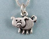 Tiny pig necklace / pendant