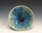 Crystalline Plate- Olive and Blue