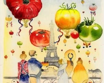 Tomato Paris letter shipped flat