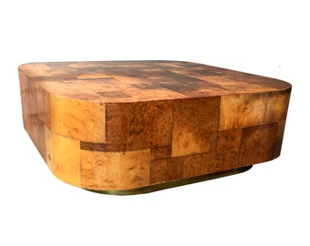 Paul Evans Gorgeous Burl Wood Coffee Table Directional