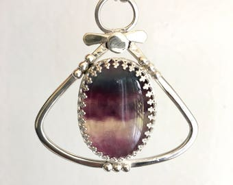 Harmonizing Fluorite Sterling Silver Necklace