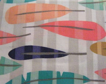 1 Fat Quarter Summer Feather Cotton Quilt Fabric