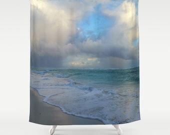 Shower Curtains, Shower Curtain Bathroom Photography Ocean Sea Photo 21 beach by L.Dumas