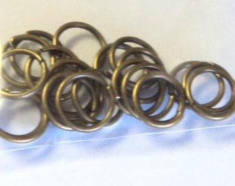 50 Antique Bronze 10mm Jump Rings,  jewelry supplies, findings, diy jewelry, jumprings