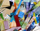 Stained Glass Scraps, Mosaic Scrap Glass, 15 lbs, glass pieces