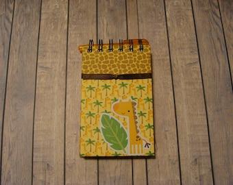 Giraffe Notebook With Ribbon