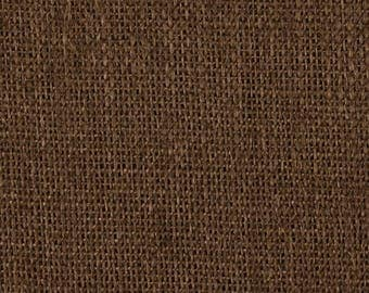 BROWN Burlap Fabric REMNANT 30 X  60 inches wide
