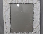TIN Ceiling Metal Picture Frame Antique White 11x14 Shabby Recycled chic Private Listing Custom Order