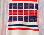 Vintage Sleeveless Shirt - Red White and Blue Patriotic Geometric