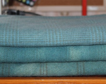 SOFT TEAL hand-dyed wool for rug hooking and penny rugs