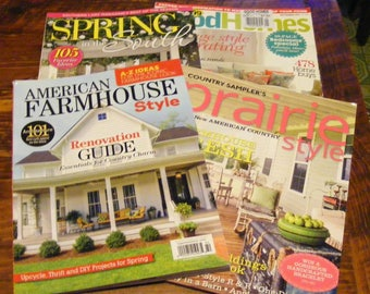 American Farmhouse Style Spring 2017 Spring in the South 17 Prairie Style Summer 16 British Good Homes Sept 11 Magazine Lot
