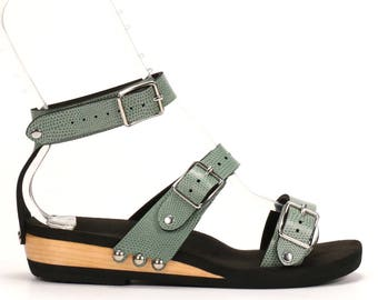 Low Triple Strap Sandal - Responsibly Made in the USA - Cruelty Free - Eco Friendly