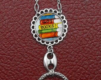Got Books Badge Holder Eyeglass Chain Librarian Gift Writer Lariat Glasses Book Eye Glass Lanyard