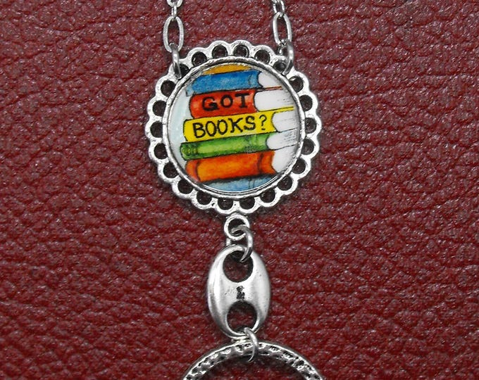 Librarian Badge Holder Got Books Eyeglass Chain Writer Lariat Glasses Book Eye Glass Lanyard