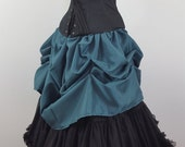 SALE Teal Super Full Mini Length All Around Bustle Skirt-One Size Fits All