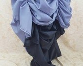 HALF PRICE SALE Storm Grey Mini Length Tie Bustle Skirt-One Size Fits All