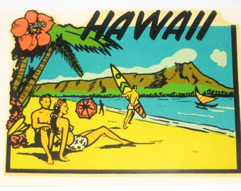 Vintage Decal - Hawaii