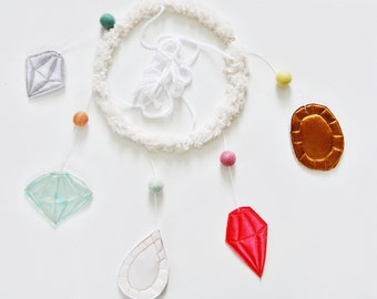 Lux Jewel Baby Mobile // Moden, mimimal, shiny mobile // Perfect for new parents excited about their gem of an offspring!