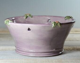Flower Pot - Yarn Bowl - Centerpiece Bowl - Lavender - Handmade