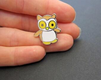 Woodland Owl Enamel Pin // owl pin - enamel pin - lapel pin - flair - enamel jewellery - pin badge