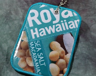 Luggage Tag from Recycled Royal Hawaiian Sea Salt Macadamia Nuts Bags