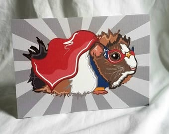 Super Guinea Pig Greeting Card