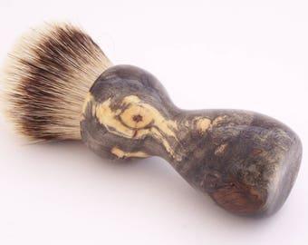 Buckeye Burl Wood 26mm Super Silvertip Badger Hair Shaving Brush Handle (Handmade) B22 - 5th Anniversary Gift - Shaving Kit