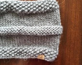 AGATE BAY // charcoal alpaca blend handknit cowl