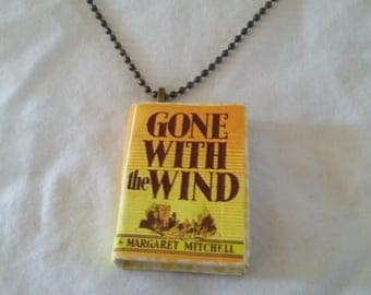 Mini-Book Pendant - Gone with the Wind