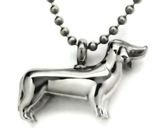 Dachshund Cremation Jewelry Pet Urn Necklace Dog Urn Memorial Keepsake Pendant Doxie Wiener Dog