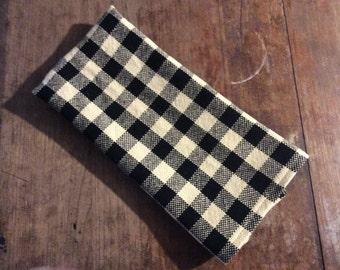 Black&Off White 18 x 24 kitchen towel  handwovencloth farmhousedecor cottage decor