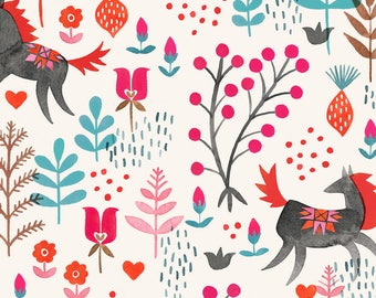 Horse Fabric - Wild Horses By Meghannrader - Modern Girl Horse Lover Cotton Fabric By The Yard With Spoonflower