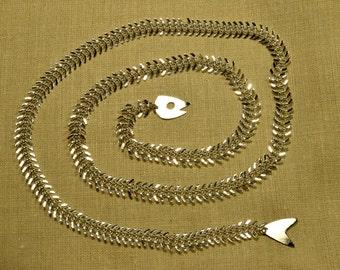 Silver Fish Skeleton Lariat