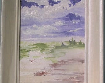 Sand Dune & Sky Original Oil Painting