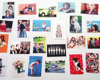 set of 23 printed postcards- Printed on a fine quality 250 gram paper - 4x6 inch card-paper goods