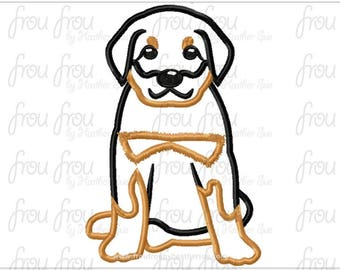"Rottweiler Dog Digital Embroidery Design Machine Applique 4""-16"""