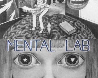 Mental Lab - Framed Drawing