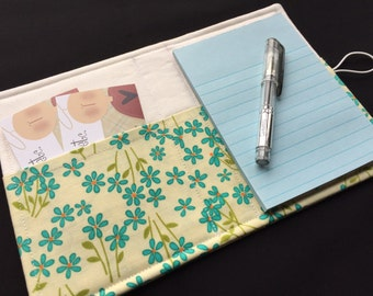 Mini List Taker, Organizer, Coupon Holder, Petalicious by Nancy Thias, Notepad And Pen/Pencil Included