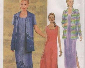 PLUS SIZE Dress & Jacket Sewing Pattern ~ EASY Long Little Black Dresses Sizes 2148