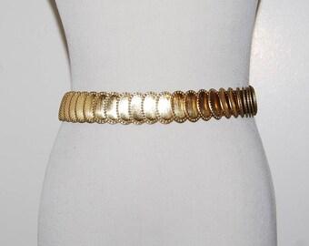 Vintage Belt Gold Stretch Medallion