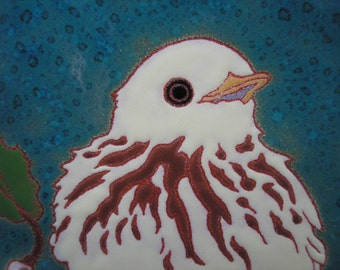 Yellow Warbler, AVAILABLE NOW,  bird tile,- arts and crafts, birder