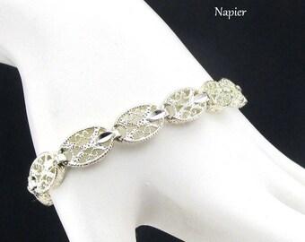 Napier Bracelet Filigree Silver tone