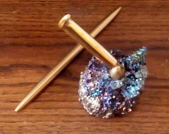 PEN HOLDER - Sparkling Bright Metallic Colors - Gem  Quality Bismuth Crystals m204